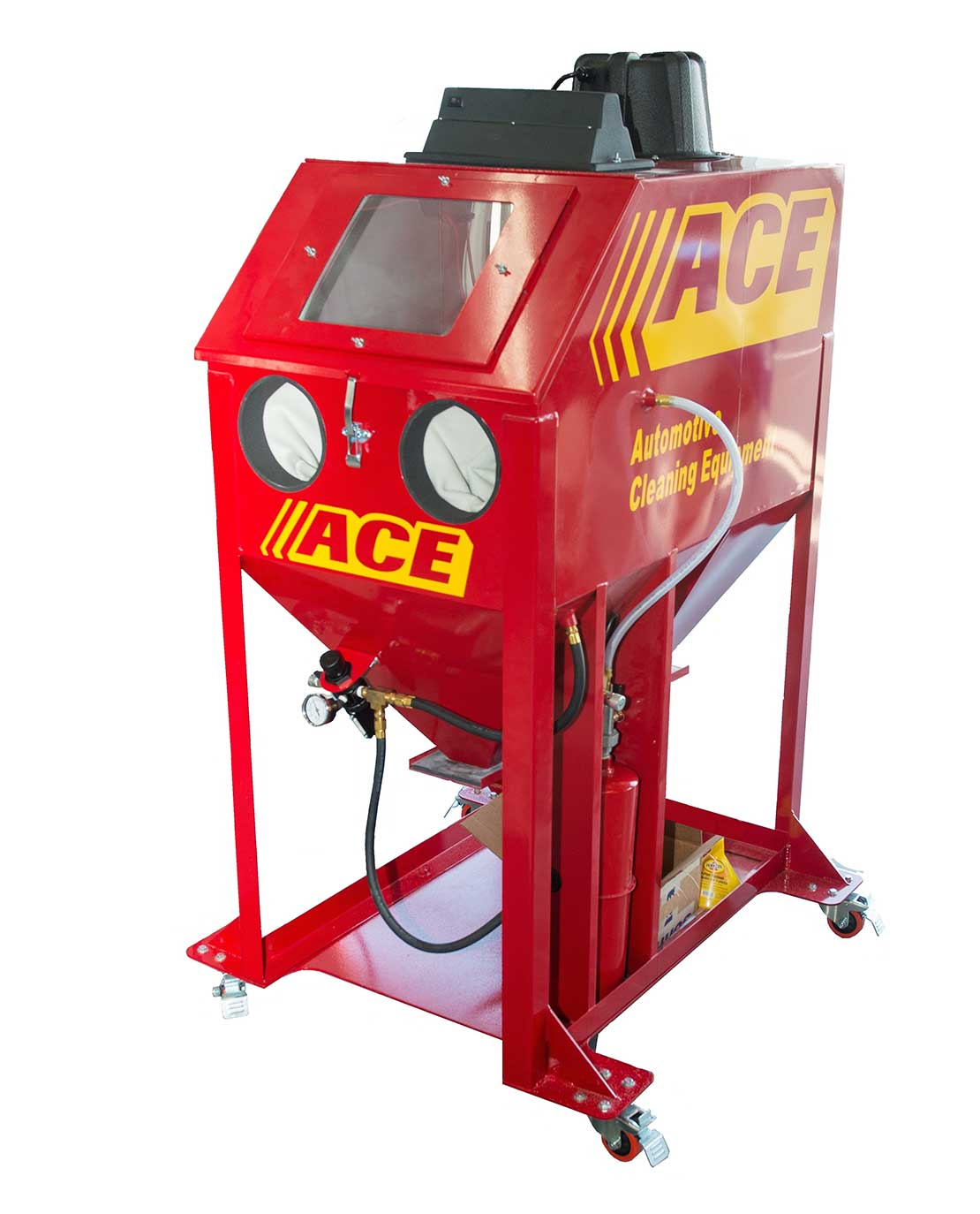 ace soda plus soda blast cabinet with builtin dust collector